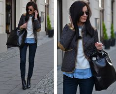 Quilted jacket (by Daisyline .) http://lookbook.nu/look/4281887-Quilted-jacket