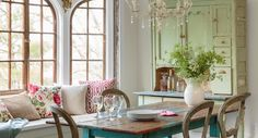 An eclectic mix of new and old furnishings gives this Victorian home character.