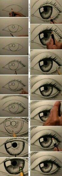 Dibujando un ojo.