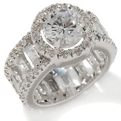 cz ring sets | Cubic Zirconia Engagement Rings Like No Other: This massively gorgeous ...