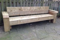 9ft railway sleeper bench and garden seat
