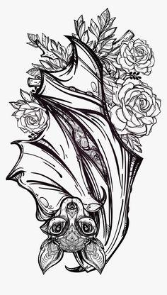 Hd Tattoos, Tattoo Drawings, Sleeve Tattoos, Arabic Tattoos, Irezumi Tattoos, Dragon Tattoos, Traditional Tattoo Bat, Flash Moda, Gotik Tattoo