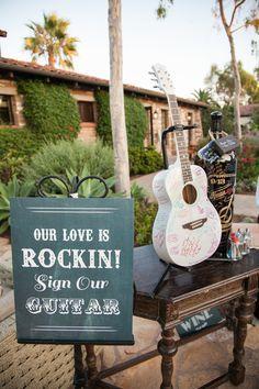 Ideas For Wedding Guest Book Vintage Grooms Guitar Wedding, Wedding Reception Music, Wedding Book, Wedding Signs, Wedding Souvenir, Wedding Ideas, Wedding Favors, Diy Wedding, Nautical Wedding
