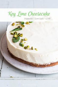 Discover recipes, home ideas, style inspiration and other ideas to try. Key Lime Cheesecake, Pumpkin Cheesecake Recipes, Classic Cheesecake, Carrot Recipes, Cheesecake Bites, Chocolate Cheesecake, Strawberry Cheesecake, Angle Food Cake Recipes, Dessert Recipes