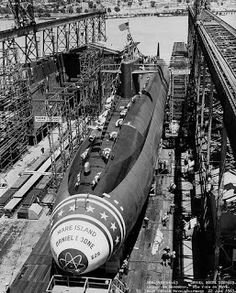 "The nuclear submarine USS Daniel Boone (SSBN 629)  The ship was the ninth nuclear powered vessel built at Mare Island and the fourth ""boomer,"" or ballistic missile submarine built there.  I went to Nuke School at Mare Island. The last class there."