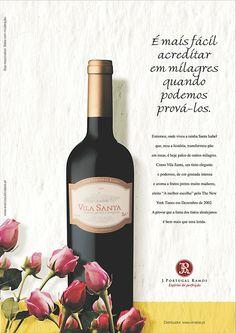 Anúncio Vila Santa para J. Portugal Ramos. Copywriter: Rita Monteiro