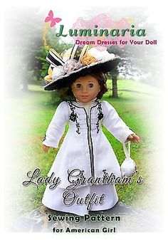 PATTERN-Downton-Abbey-Titanic-Lady-Grantham-Dress-Clothes-for-18-American-Girl