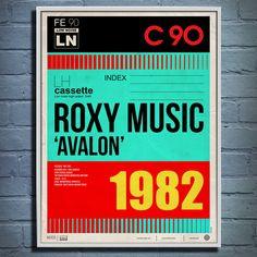 Roxy Music Avalon 1982 Print