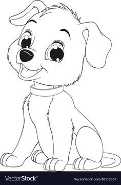 Pin By Margherita On Cartoon Animals Puppy Coloring Pages Dog Coloring Book Dog Drawing For Kids