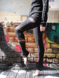 Hey, I found this really awesome Etsy listing at https://www.etsy.com/listing/93521259/hooping-pants-black-long-leggings-cut