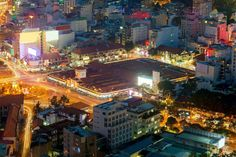 Ben Thanh Market and the area around