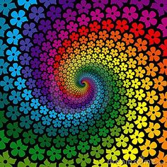 Find Colorful Flower Spiral Background stock images in HD and millions of other royalty-free stock photos, illustrations and vectors in the Shutterstock collection. World Of Color, Color Of Life, Taste The Rainbow, Wow Art, Psychedelic Art, Colorful Flowers, Rainbow Flowers, Rainbow Swirl, Rainbow Art