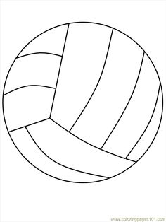 Volleyball Coloring Page These are for you, Taylor