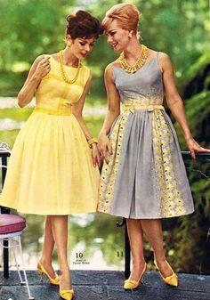 Mid mod party dresses by Spiegel 1962 1960s Dresses, 1960s Outfits, Vintage Dresses, Vintage Outfits, Moda Vintage, Vintage Mode, Retro Vintage, Vintage Stuff, Vestidos Vintage