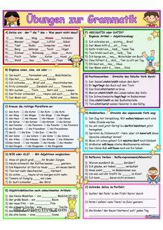 Grammatik_Übung&Wiederholung 2 German Grammar, German Words, Reflexive Verben, German Resources, Deutsch Language, German Language Learning, Learn German, Language Activities, Worksheets