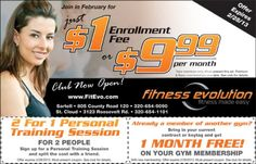 Get in Shape @ Fitness Evolution #Coupons