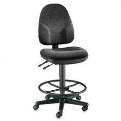Alvin Monarch High Back Drafting Chair, Black