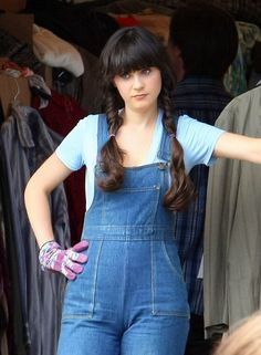 Zooey Deschanel Long Braided Hairstyle - Zooey Deschanel Hair - StyleBistro. Click to see more Zooey hairstyles!!!!!!!