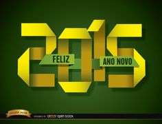 "Green background to celebrate the New Year showing 2015 number in folded papers of yellow color, it also has ""Feliz ano novo"" message in a green color paper. It's a cool background to make people dream about all the possibilities that brings the New Year to their lives. High quality JPG included. Under Commons 4.0. Attribution License."