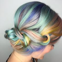 Hair Beauty Co-op | Trend: Rainbow hair - Macaron Hair Is the Sweetest Way to Get In on the Rainbow Trend