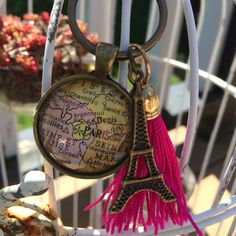 Tassel map keychains or purse bling!  Ohh lala mon Cherie!