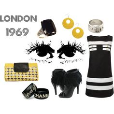Mod fashion is so chic.....Swinging London, created by misspiggylagerfeld on Polyvore.... I so should have been alive during the 60s lol!