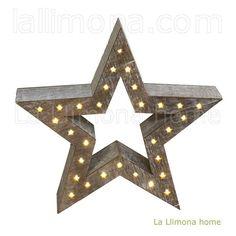 Navidad. Estrella Navidad madera 34