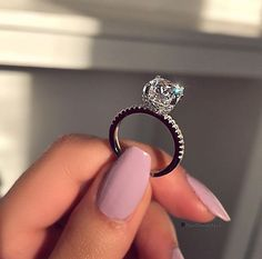 Details about Cushion Diamond Solitaire Engagement Wedding Ring White Gold - Wedding rings engagement - Anillos Solitaire Engagement, Wedding Engagement, Solitaire Rings, Big Wedding Rings, Wedding Nails, Dream Wedding, Bridal Rings, Ring Verlobung, Gold Ring