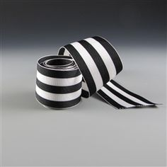 Black and White Striped Grosgrain Ribbon for my tree.