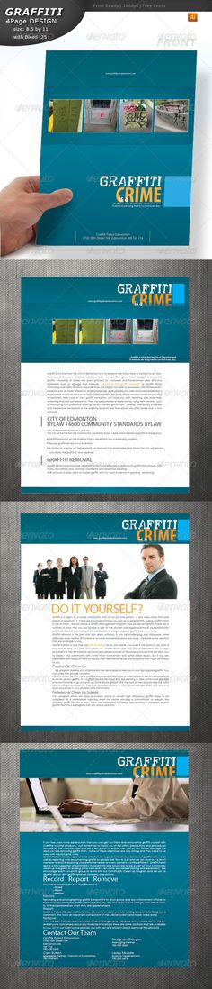 #Graffiti Brochure - #Brochures Print #Templates Download here: https://graphicriver.net/item/graffiti-brochure/4480012?ref=alena994