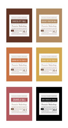 Protein bakeshop labels pt1 Spices Packaging, Dessert Packaging, Bakery Packaging, Cookie Packaging, Food Packaging Design, Packaging Design Inspiration, Design Package, Label Design, Food Labels
