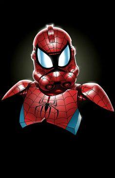 spiderman trooper jon bolerjack jj kirby pic on Design You Trust Batman Christian Bale, Clone Trooper, Spiderman, Star Wars Clone Wars, Star Wars Art, Geeks, Stormtroopers, Stormtrooper Art, Spider Man