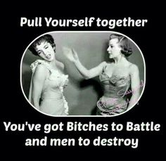 Pull yourself together...