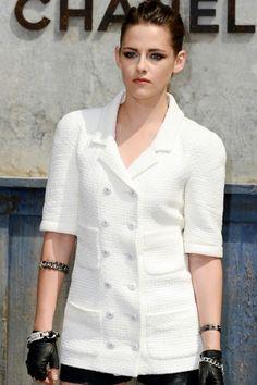 Kristen Stewart In Chanel At Haute Couture Paris Fashion Week, 2013
