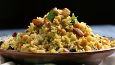 The addition of sliced almonds to this easy rice pilaf dish—which uses pantry staples—makes it extra delish. Raisin Recipes, Almond Recipes, Rice Recipes, Veggie Recipes, Easy Rice Pilaf, Rice Pilaf Recipe, Garam Masala, One Pot Meals, Main Meals