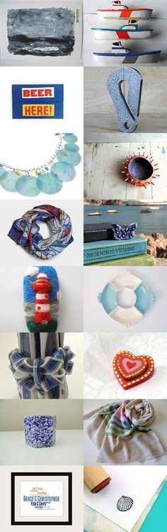 Love the seaside! A collection of Etsy treasures by Atelier Spatz
