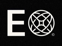 E✴ by Mike Smith on Dribbble Typography Logo, Typography Design, Branding Design, Globus Logo, Mystic Logo, Mike Smith, Great Logos, Personal Logo, Minimal Logo