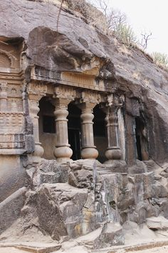 Nashik is a mountaneous city with ruins in the northwest region of Maharashtra State in India. Temple India, Hindu Temple, Indian Temple Architecture, Ancient Architecture, Tourist Places, Famous Places, City Photography, India Travel, Incredible India