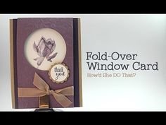 Lotus Blossom Fold-Over Window Card Video - DOstamping with Dawn, Stampin' Up! Demonstrator