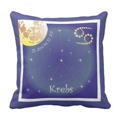 Krebs 22. Juni bis 22. Juli Kissen 22 Juni, June, Astrology Signs, Pillows