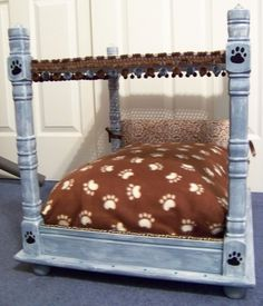 Luxury,Upcycled, small Dog,Cat, Pet or Doll Bed. $195.00, via Etsy.