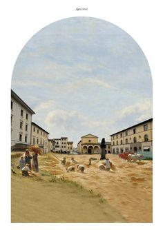 """Agricivismo"""" Collage digitalecm 255x180.  Carlalberto Amadori, con Ma0 studio.San Giovanni Valdarno"""