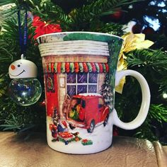 Yep. We're not working until January so expect just chilled back posts like this new&cheesy Christmas mug! #christmasmug #happyholidays #christmastree #designers #onabreak