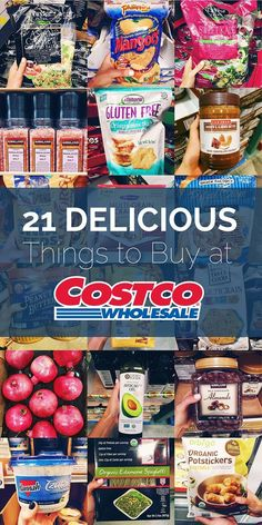 21 Delicious Best Buys at Costco for all things FOOD! From tasty frozen finds, to fresh produce - Costco has it all. Costco Shopping List, Costco Finds, Costco Deals, Shopping Tips, Costco Savings, Cheap Shopping, Shopping Deals, Healthy Snacks To Buy, Foods To Eat