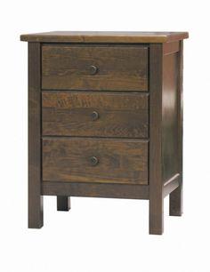 Dark brown bedside table