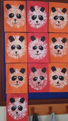 26 Ideas for craft preschool bear kids Animal Art Projects, Animal Crafts, Kindergarten Art, Preschool Crafts, Niedlicher Panda, Grade 1 Art, Jr Art, Ecole Art, Art Corner