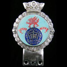Rare-B-E-amp-C-G-Wales-1958-Car-Badge-by-J-R-Gaunt