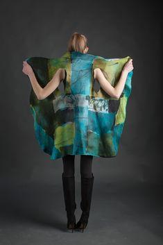 18 best Ideas how to sew felt wool Diy Clothing, Sewing Clothes, Mode Kimono, Gilet Crochet, Nuno Felting, Felt Art, Fabric Art, Textile Art, Wearable Art