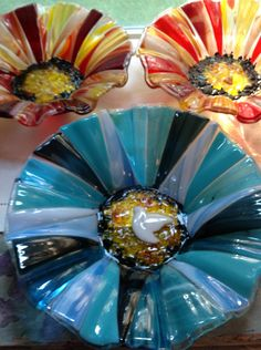 New fused glass bowls by mterziadesgins!