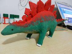 Dinosaur model #toy #clay #cardboard